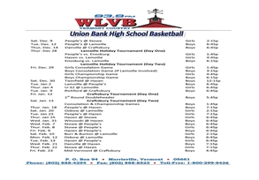 HSBB Schedule-Feature Size